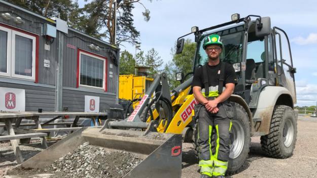 Simon Sabel, anläggningsarbetare och skyddsombud på JM Entreprenad.