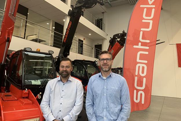VD Anker Lemvig (t.h i bild) och marknadschef Peter Claesson (t.v i bild) önskar alla hjärtligt välkomna till monter 507 på Entreprenad Live.