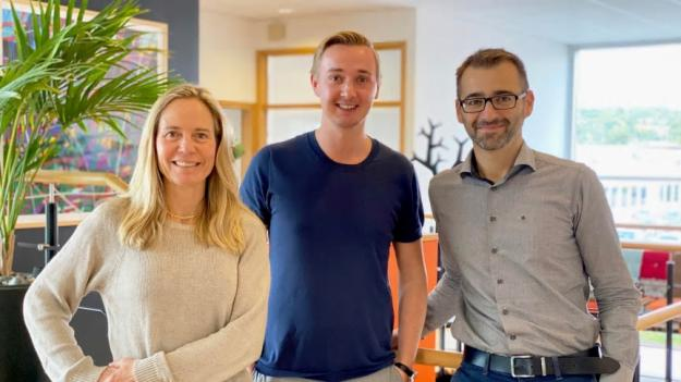 Från vänster: Anna Langenius, Investment Manager Yuncture, Christoffer Rydhede VD Yuncture, Amer Catic VD Yolean.