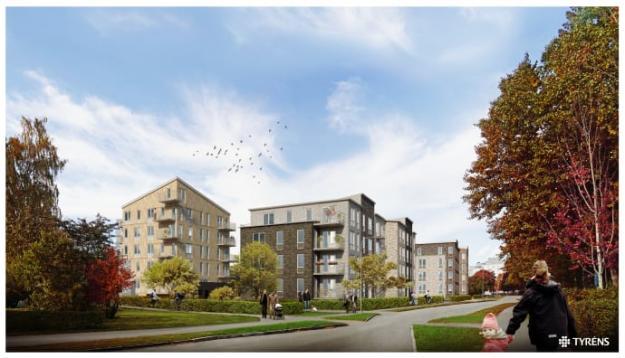 Detaljplanen för Skiljebo innebär bland annat 150 till 200 nya bostäder, en ny aktivitetspark för rekreation och idrott, samt nya gröna miljöer (bilden är en illustration).