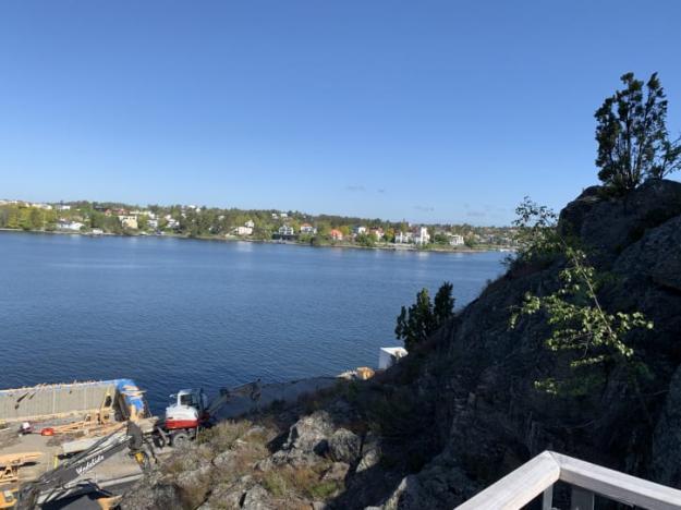 Det nya bostadsområdet på Telegrafberget får egen småbåtshamn.