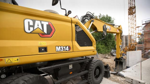 Nya hjulgrävaren Cat M314.