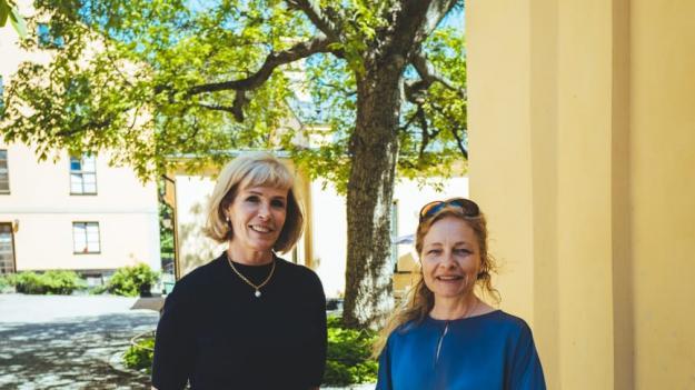 Fv Anna-Jeanette Larnelius och Mia Björckebaum.