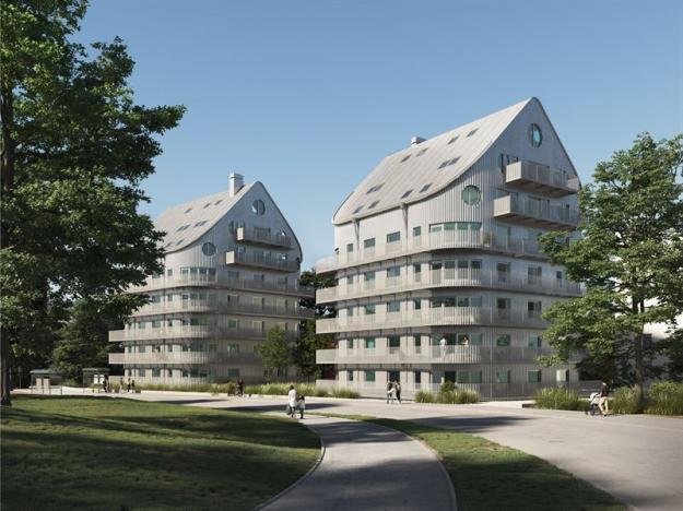 NCC bygger 54 hyreslägenheter i Norrköping (bilden är en illustration).