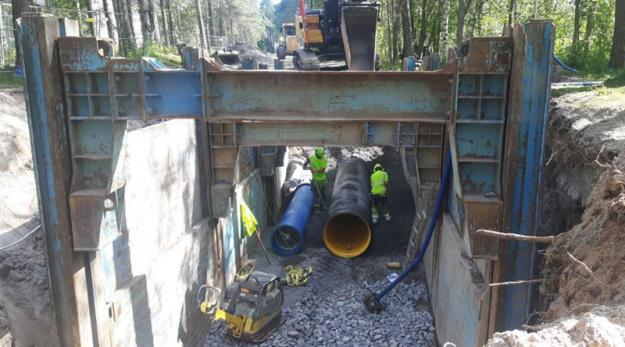 Bild från arbete vid etapp 4E av Östra länken, foto NCC.