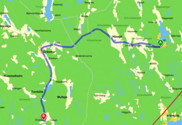Väg 512 Örsbäck-Yttersjö.