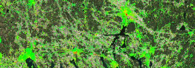 Såhär ser sättningarna ut i området norr om Mälaren och Uppsala.<span style=\
