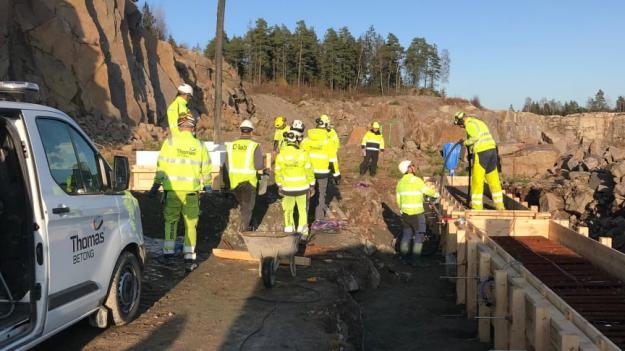 Thomas Betong levererar till Vattenfalls nya dammanläggning.